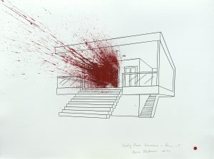 Bleeding House Somewhere In Miami-5, ink on paper, 56x75cm,2014